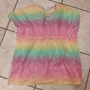 RAINBOW ombre bathing suit cover 7/8